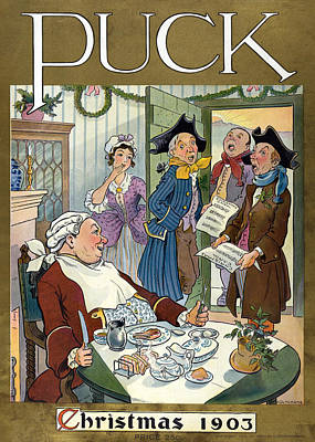 Puck Christmas, 1903 Poster by Science Source