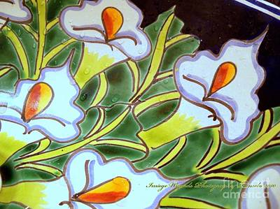 Calla Lillies Splashed Poster by ARTography by Pamela Smale Williams