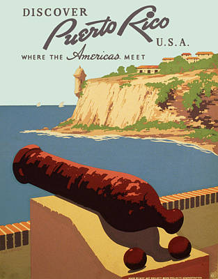 Puerto Rico - Where The Americas Meet Poster by Georgia Fowler