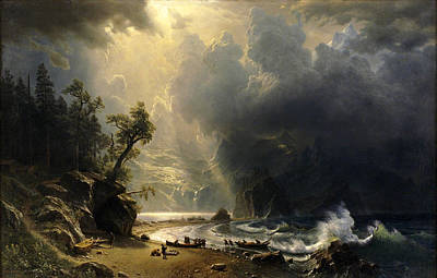 Puget Sound On The Pacific Coast Poster by Albert Bierstadt