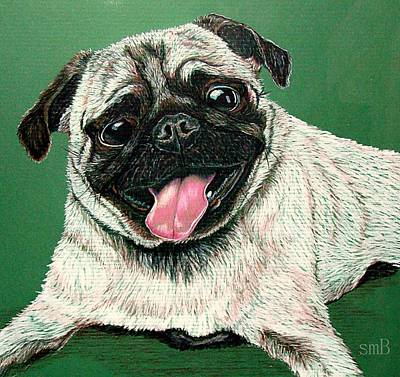 Pugs And Kisses Poster by Susan Bergstrom