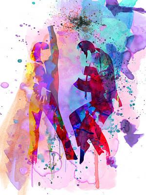 Pulp Watercolor Poster by Naxart Studio