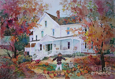 Pumpkins For Sale Poster by Sherri Crabtree