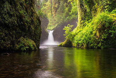 Punchbowl Falls Poster by Joseph Rossbach