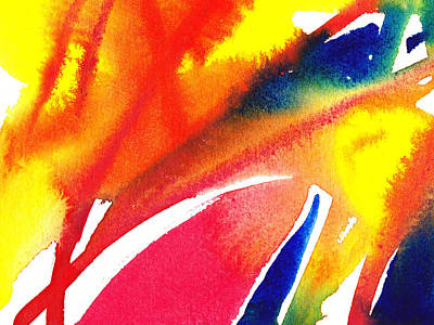 Pure Color Inspiration Abstract Painting Enchanted Crossing Poster by Irina Sztukowski