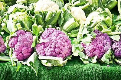 Purple Cauliflower Poster by Tom Gowanlock