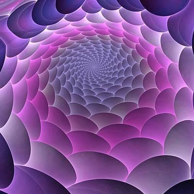 Purple Gradient Poster by Anastasiya Malakhova