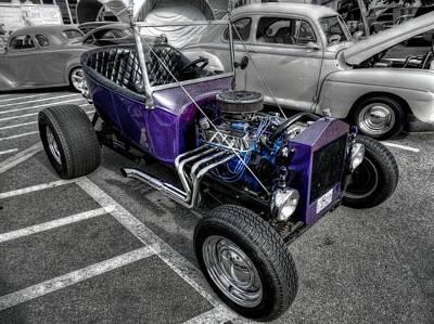 Purple Rod 001 Poster by Lance Vaughn