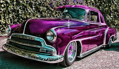 Purple Street Cruiser Poster by Samuel Sheats