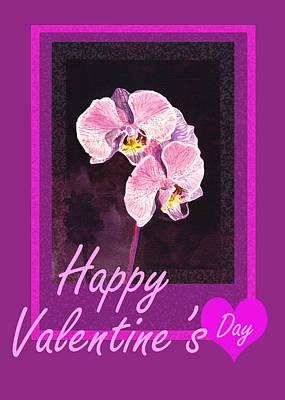 Purple Valentine Poster by Irina Sztukowski