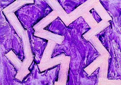 Purple Zigzag Was Painting Poster by Simon Bratt Photography LRPS