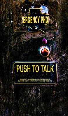 Push To Talk Poster by Bob Orsillo