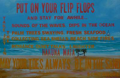 Put On Your Flip Flops Poster by Patti Schermerhorn