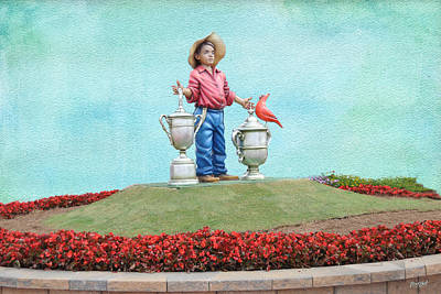 Putter Boy - Pinehurst No. 2 Poster by Paulette B Wright