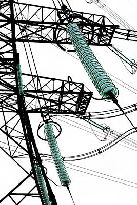 Pylon With Glass Insulator Strings Poster by Cordelia Molloy