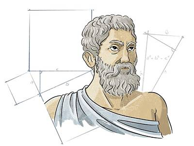 Pythagoras Poster by Harald Ritsch
