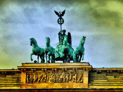 Quadriga On Brandenburg Gate Poster by Ralph van Och
