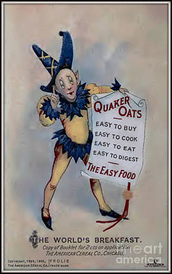 Quaker Oats Vintage Advertisement Poster by Unknown