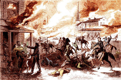 Quantrills Raid, Lawrence Massacre, 1863 Poster by Photo Researchers