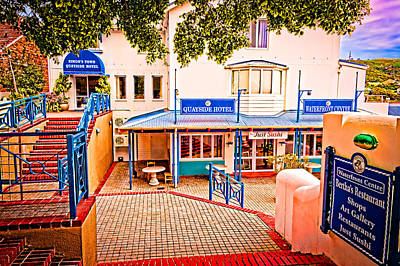 Quayside Hotel Of Simon's Town Poster by Cliff C Morris Jr