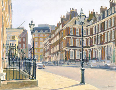 Queen Annes Gate Oil On Canvas Poster by Julian Barrow