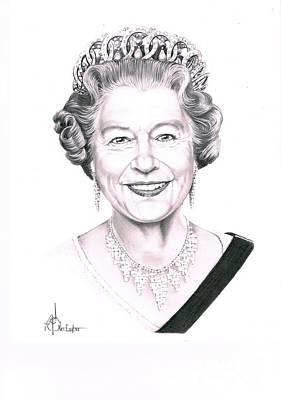 Queen Elizabeth Poster by Murphy Elliott