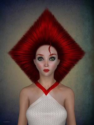 Queen Of Diamonds Poster by Britta Glodde