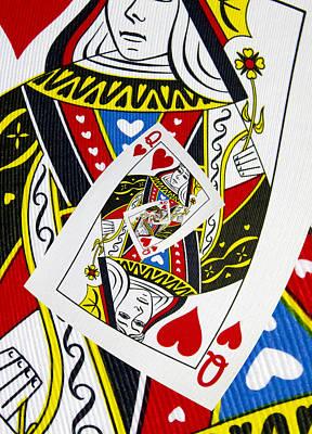 Queen Of Hearts Collage Poster by Kurt Van Wagner