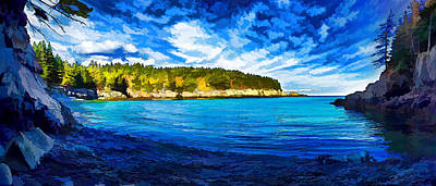 Quiet Cove At Cutler Poster by Bill Caldwell -        ABeautifulSky Photography