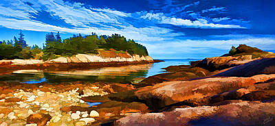 Quiet Cove At Great Wass Poster by Bill Caldwell -        ABeautifulSky Photography
