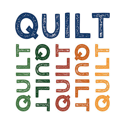 Quilt Cute Colorful Poster by Flo Karp
