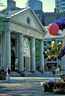 Quincy Market Boston Poster by Gail Maloney
