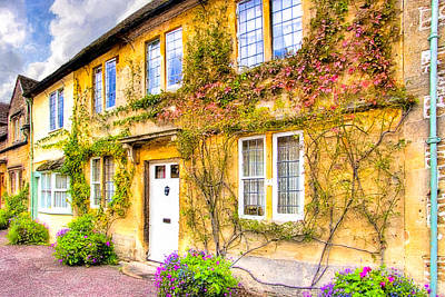 Quintessential English Village Cottage - Lacock Poster by Mark E Tisdale