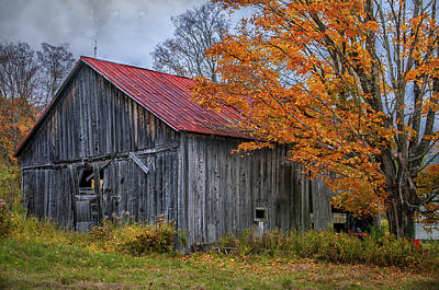 Quintessential Vermont - Rustic Barn Series  Poster by Thomas Schoeller