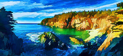 Quoddy Head Cove Poster by ABeautifulSky Photography