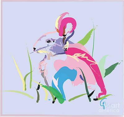 Rabbit - Bunny In Color Poster by Go Van Kampen