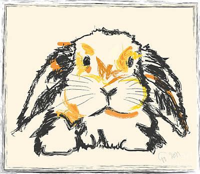 Rabbit Jon Poster by Go Van Kampen
