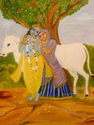 Radhakrishna Poster by Suma GV