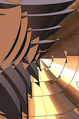 Radial Edges - Bronze Poster by Stephen Younts
