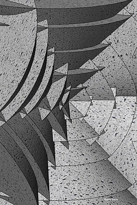 Radial Edges - Concrete Poster by Stephen Younts