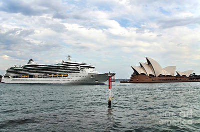 Radiance Of The Seas Passing Opera House Poster by Kaye Menner