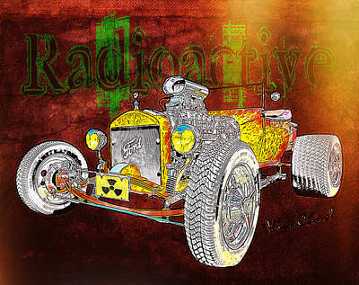 Radioactive Rod Poster by Chas Sinklier