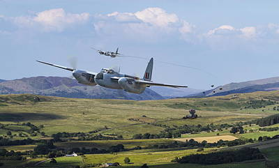 Raf Mosquito - Train Buster Poster by Pat Speirs