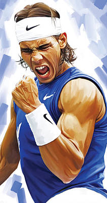 Rafael Nadal Artwork Poster by Sheraz A