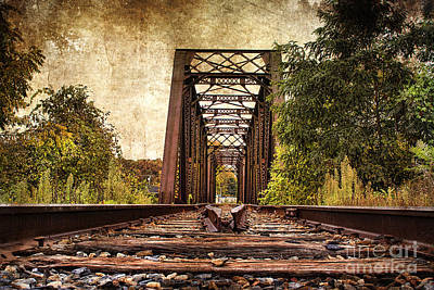 Railroad Bridge 2 Poster by Cindi Ressler