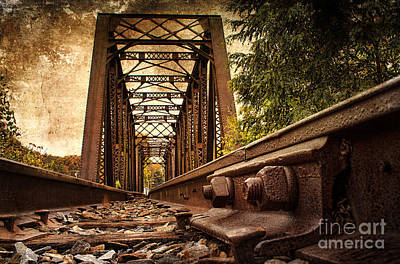 Railroad Bridge Poster by Cindi Ressler