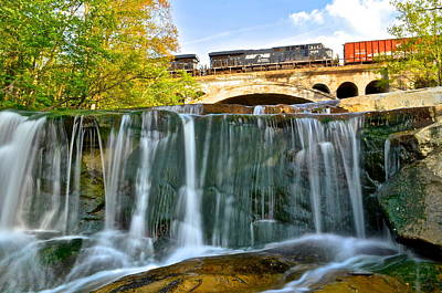 Railroad Waterfall Poster by Frozen in Time Fine Art Photography
