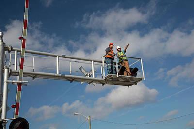 Railway Crossing Maintenance Poster by Jim West