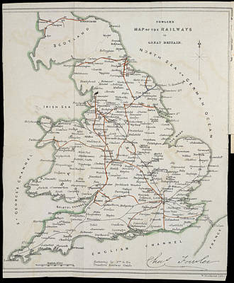 Railway Map Poster by British Library