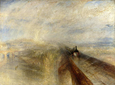 Rain Steam And Speed . The Great Western Railway Poster by Joseph Mallord William Turner